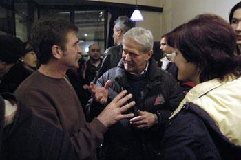 Miroslav Jeremić u društvu Đorđa Bukilice
