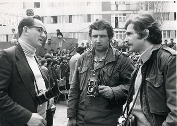 Dragiša Medenica, Dušan Jovanović i Miroslav Jeremić, oko 1975.