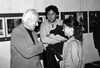 Branibor Debeljković sa Dušanom Jovanovićem i Ljiljanom Ljiljak, novembar 1989.
