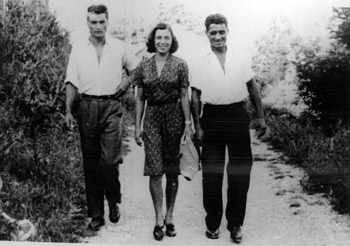 U Valjevu 1942. godine: Bogdan Pohar, Silva Pohar i Panta Mitrović