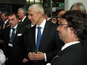 Boris Tadić sa privrednicima iz dve države