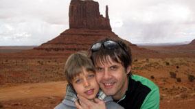 Saša Bojičić sa sinom Aleksom
