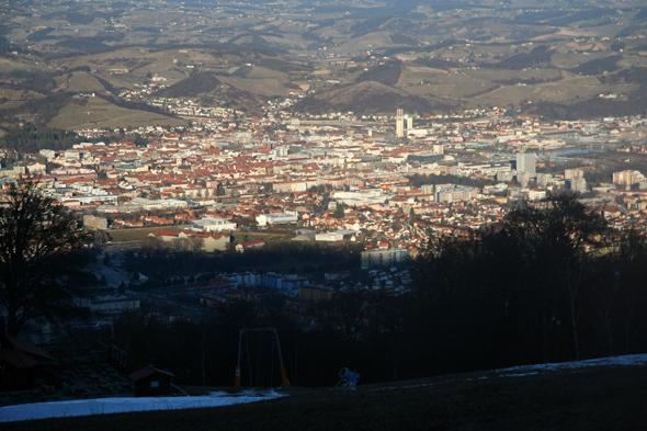 Pogled na Maribor sa Pohorja