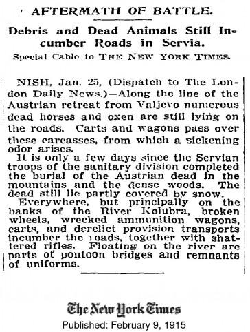New York Times, 9. februar 1915.
