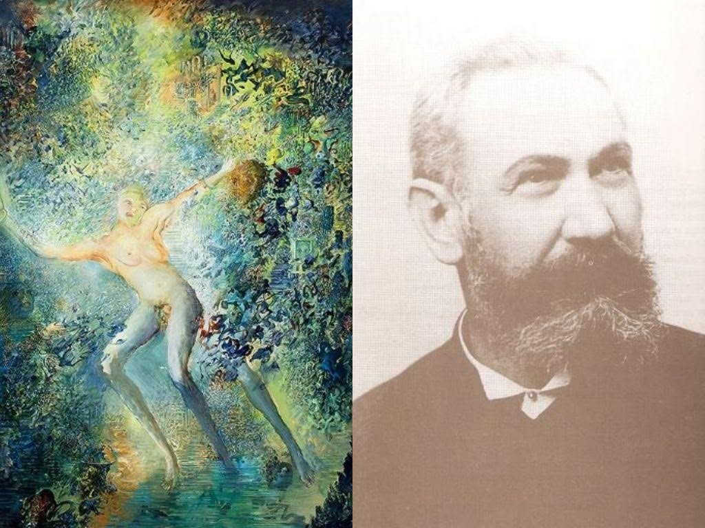 Levo Slika Ljube Popovića Tajna na punoj svetlosti, Levo Jozef Ajhinger