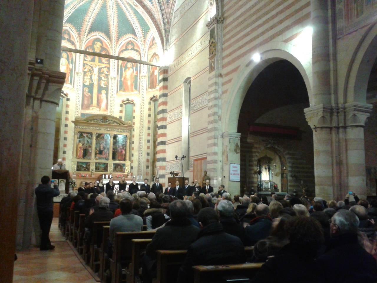 Bazilika San Zeno: kraj koncerta