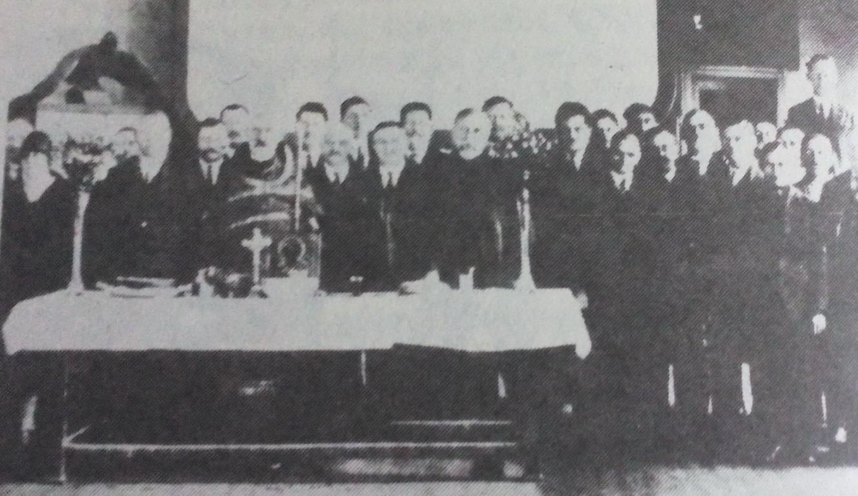 Slava udruženja ugostitelja u bioskopu Blagojević, 1930. godine