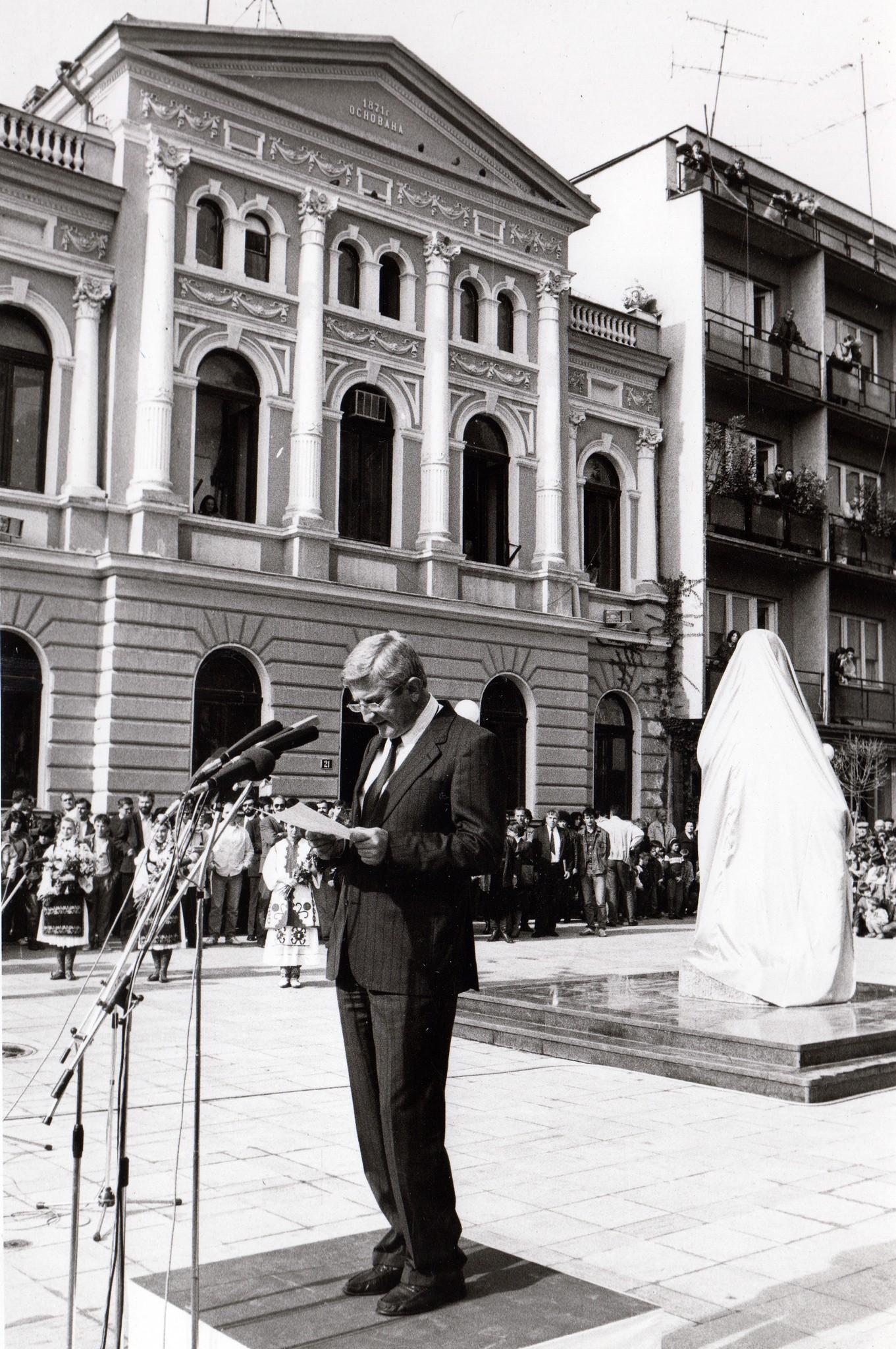 Govor tadašnjeg gradonačelnika Slobodana Đukića