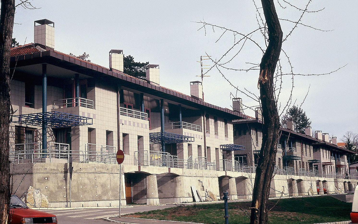 1991: Naselje Cvećara u Beogradu - M. i D. Marušić sa Z. Gašparović