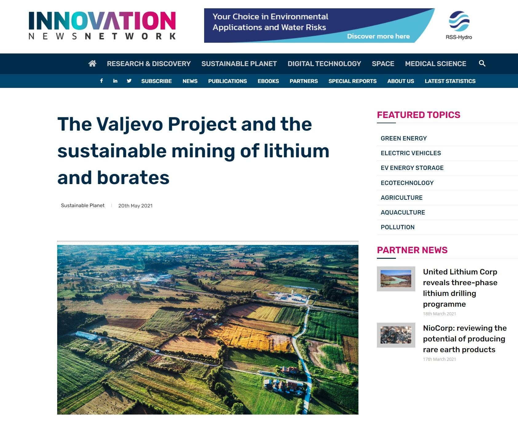 Intervju sa Aleksanderom Palkovskim, potpredsednikom kompanije Euro Lithium