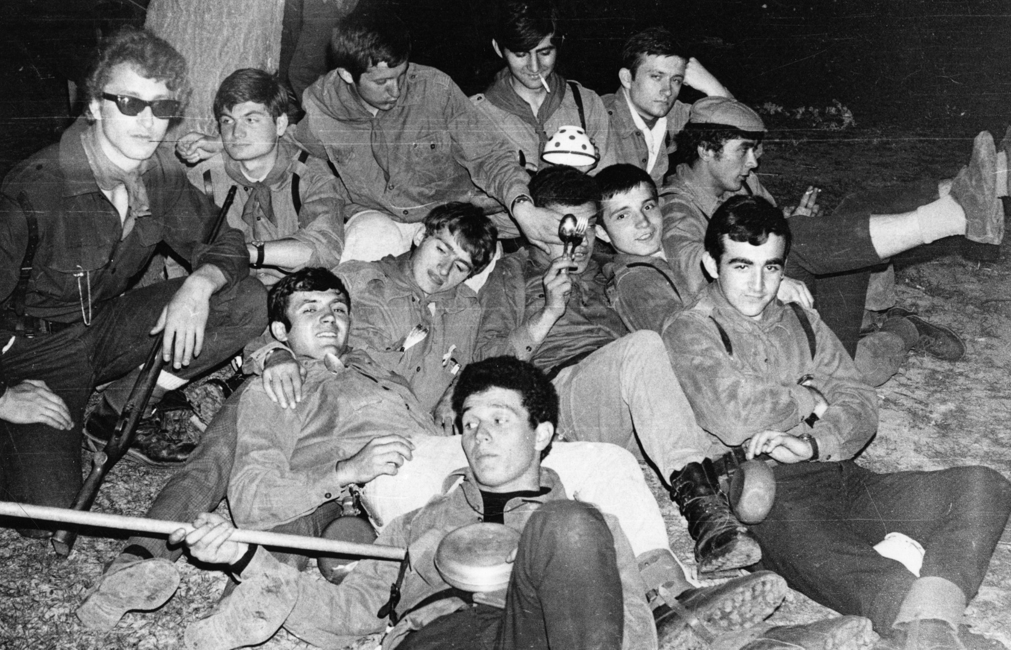 Sa speleolozima na maršu, maj 1969.