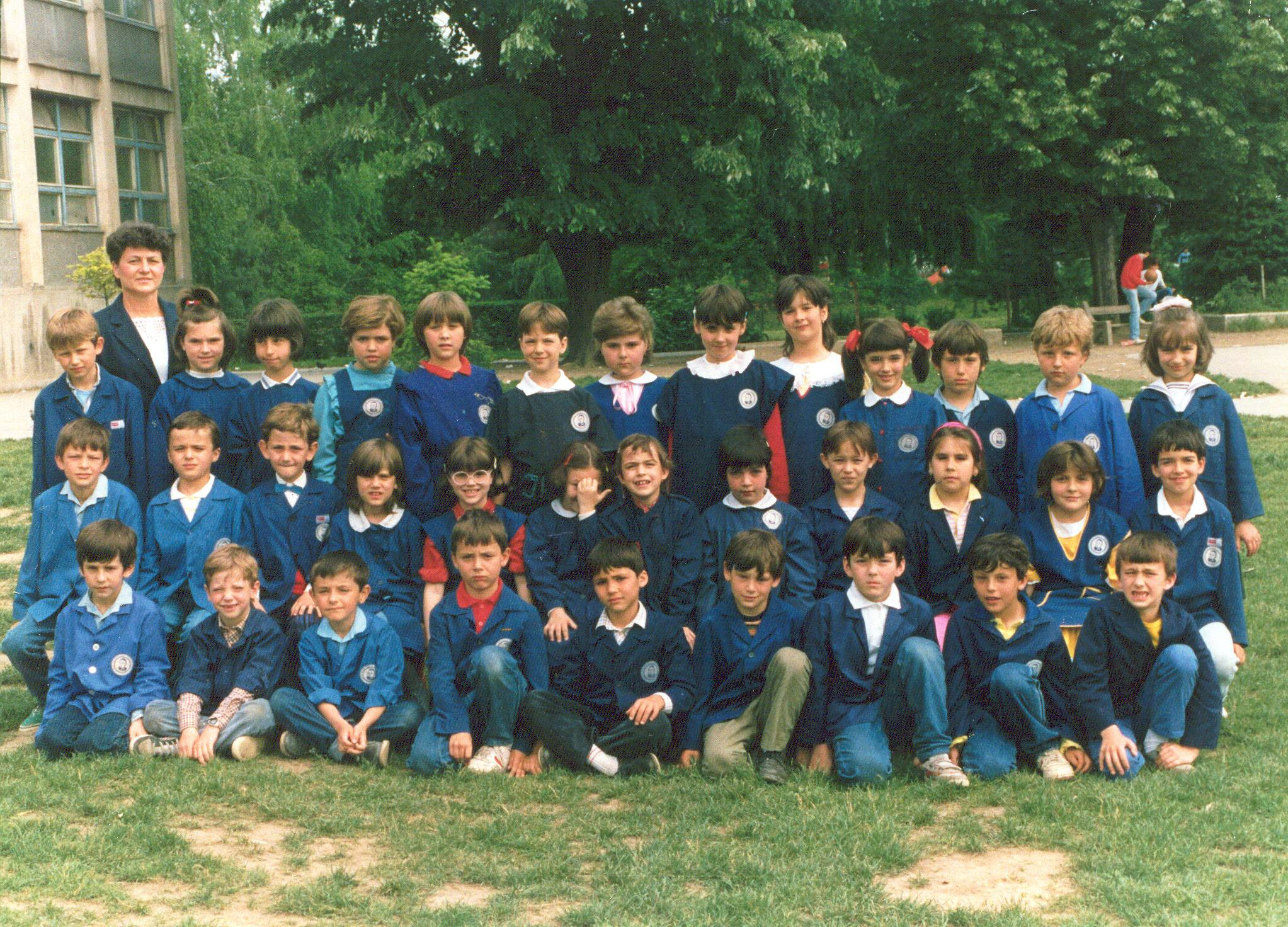 Prvi razred osnovne škole, jun 1988