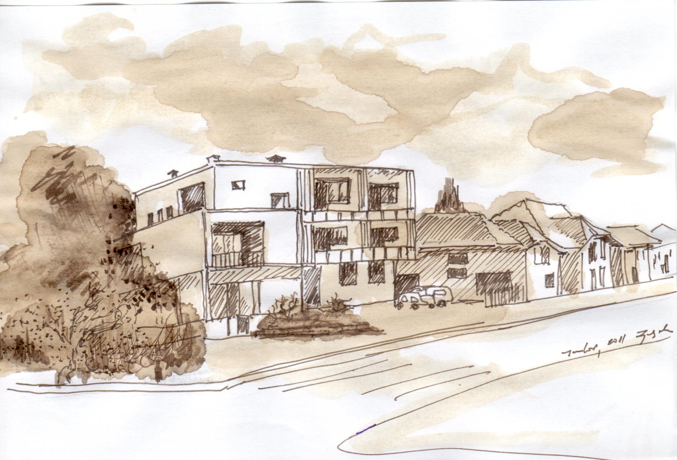 Ugao Karađorđeve i Dušanove (crtež: Ljiljana Ljiljak)