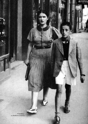Aleksandar Popović sa tetkom Selenom