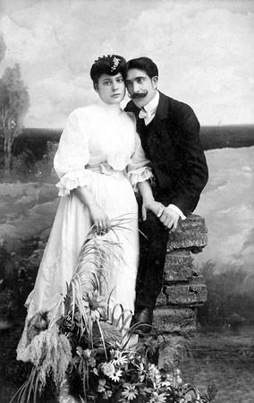 Fotograf Dušan Popović (1879-1915) sa Nevestom Sofijom