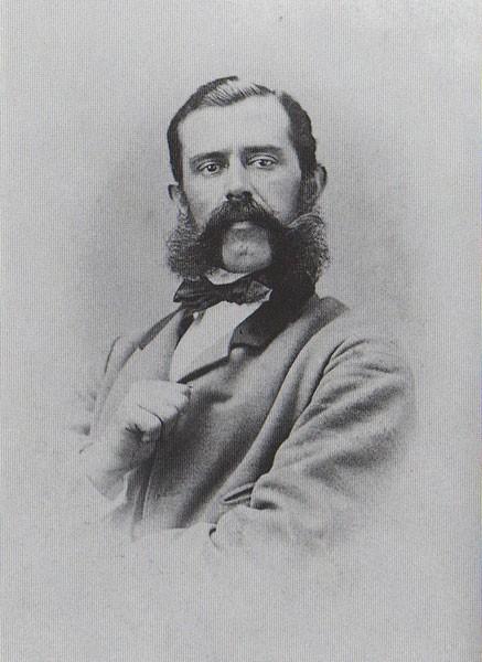 Feliks Kanic, arheolog i putopisac (1829-1904). F. W. Rösler, Wien. Oko 1865.