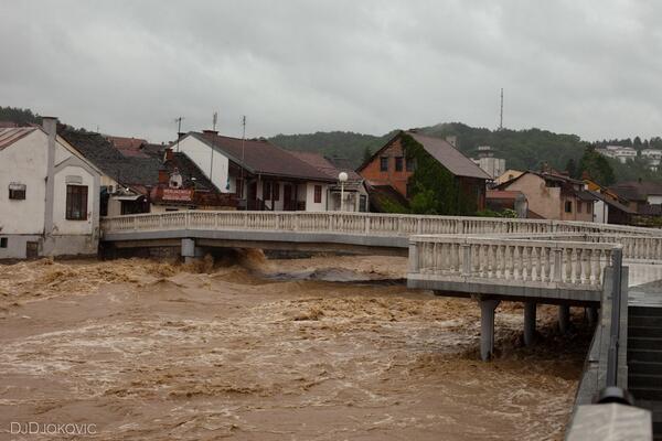 Beli most za vreme poplava