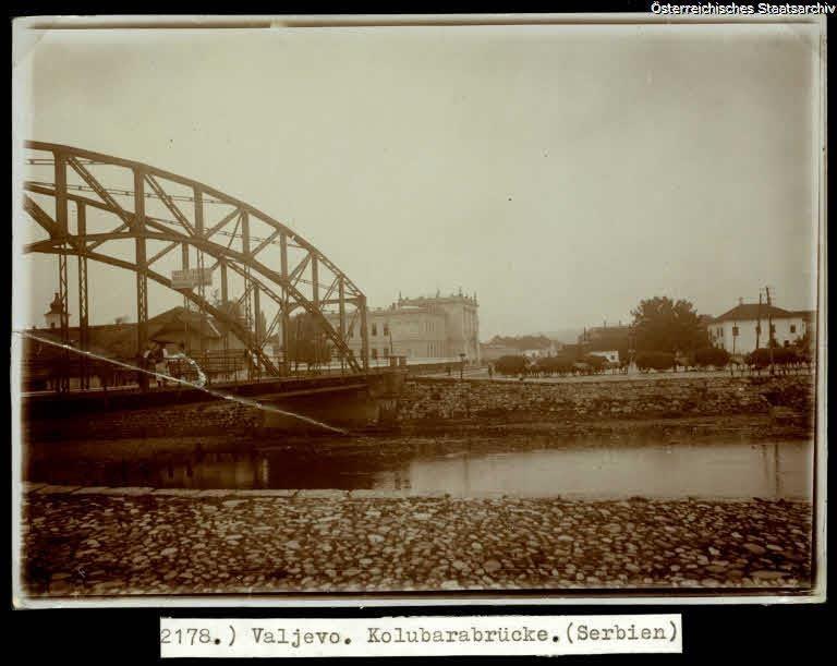 Most na Kolubari. Fotografija objavljena na sajtu Državnog arhiva Austrije