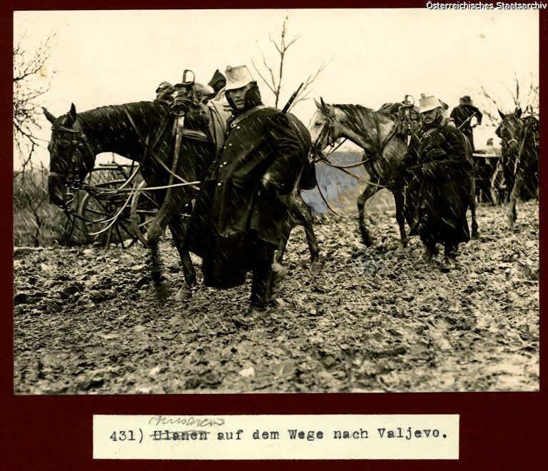 Husaren auf dem Weg nach Valjevo