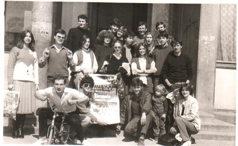 Posle probe pred godišnji konecrt 1982. godine